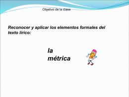 Presentación métrica poética
