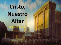 cristo nuestro altar