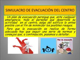 simulacro del plan de evacuación