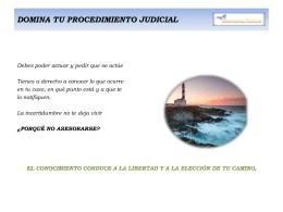 domina tu procedimiento judicial - Asociación de Mujeres contra la