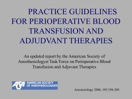 Guías sobre la transfusión sanguínea y hemoderivados