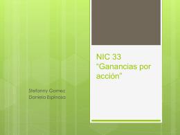 Exposición NIC 33