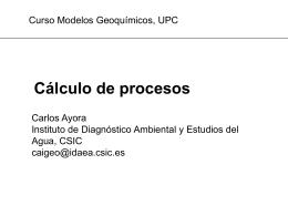 Cálculo procesos