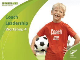 Workshop 4: Coach leadership