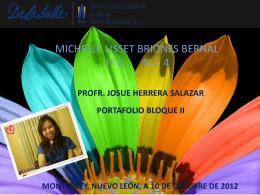 MICHELLE LISSET BRIONES BERNAL 1º B N.L. 4