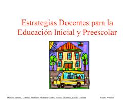 Estrategias Docentes para la Educación Inicial y Preescolar