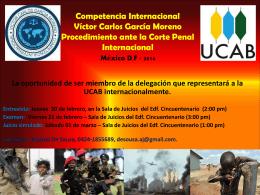 2014 Competencia Internacional Víctor Carlos García Moreno