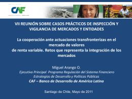 Presentación Miguel Arango - Superintendencia de Valores y Seguros