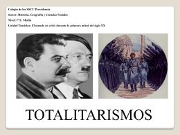 totalitarismos - SSCC Providencia