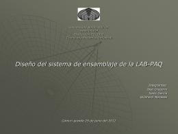 Diseño del sistema de ensamblaje LAB_PAQ