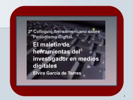 El maletín de herramientas del investigador en medios digitales