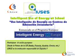 Presentacion_proyecto - IUSES - Intelligent USe of Energy at