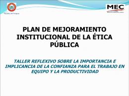 código de ética del ministerio de educación y cultura de la república