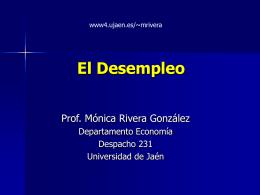 El Desempleo - Universidad de Jaén