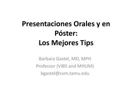 Presentaciones Orales y en Póster