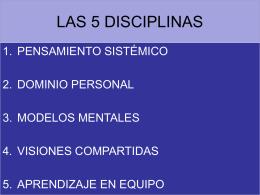 LAS 5 DISCIPLINAS