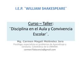 Curso – Taller: ¨Disciplina en el Aula y