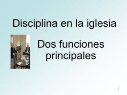 Disciplina en la iglesia