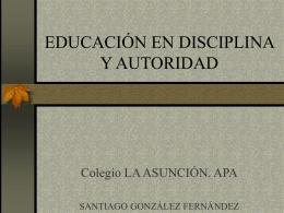 educación en disciplina y autoridad