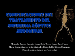 complicaciones del tratamiento del aneurisma aórtico