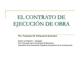 EL CONTRATO DE EJECUCIÓN DE OBRA