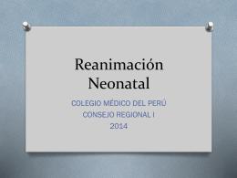 Reanimación Neonatal - CMP