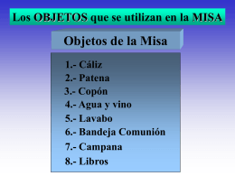 Objetos Misa - Catholic.net
