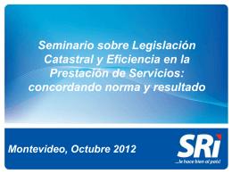 Seminario sobre Legislación Catastral y Eficiencia en la Prestación