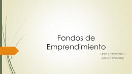 Fondos de Emprendimiento