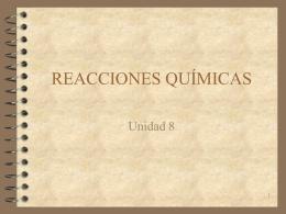 08 Reacciones químicas