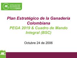 Plan Estratégico de la Ganadería Colombiana PEGA 2019