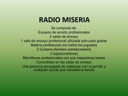 RADIO MISERIA