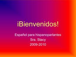 iBienvenidos! A1 crs
