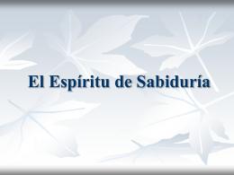 8 El Espíritu de Sabiduría - iglesia evangelica rehobot
