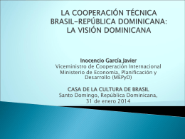 la cooperación técnica brasil-república dominicana