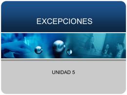 EXCEPCIONES - marcelahdz