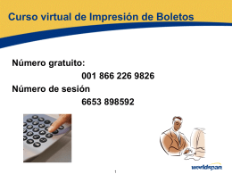 Boletos OPTAT - Global Learning Center