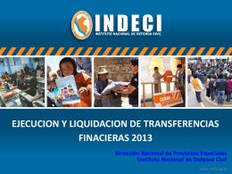 Ejecución y liquidación de transferencias - BVPAD