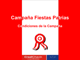 Campaña Fiestas Patrias