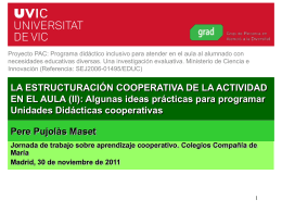 Aprendizaje cooperativo - Centro Privado Concertado Compañía de