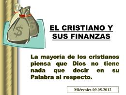 10.El Cristiano y sus Finanzas