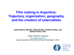 Film making in Argentina: Trajectory, organization