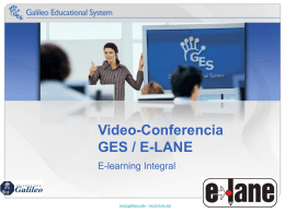 E-learning Integral - Galileo Educational System