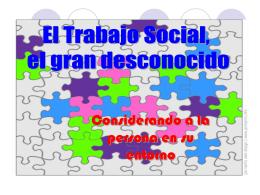 Considerando a la persona en su entorno y red social