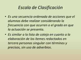 6. Escala de Clasificación