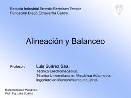 PPT Alineación y Balanceo