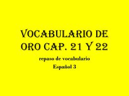 Vocabulario de Picasso