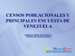 Censos Poblacionales y Principales Encuesta