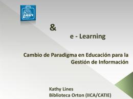 IMARK & E – Learning: Cambio en el Paradigma de