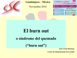 4. ESTRÉS Y BURN-OUT